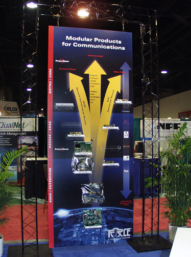 Force Computers Tradeshow Signage