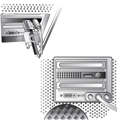 Apple PowerMac Illustration Rear View