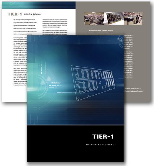 Tier 1 Brochure Design by Christine Arthur Design Group