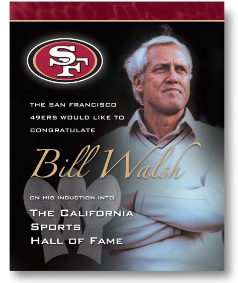 Bill Walsh Ad by Christine Arthur Design